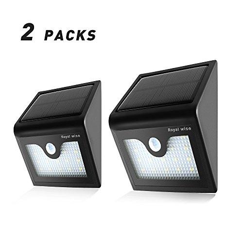 16 LED Solar Montion Senser Lights Wireless Outdoor Patio Deck Security Light (2 Pack)