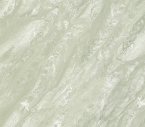 PL185653 Travertine Marble Illusion Green Mist Paper Illusions Wallpaper Torn Faux Finish Wallpaper PaperIllusion 56 Square Feet - Mist Wallpaper
