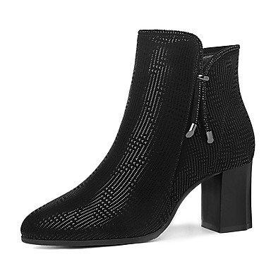 Stiefeletten Stiefel AIURBAG Modische Stiefel Für Schwarz Schuhe Herbst Party Booties amp; Winter Damen Festivität Stiefeletten Kunststoff Kleid wrXYqx0r