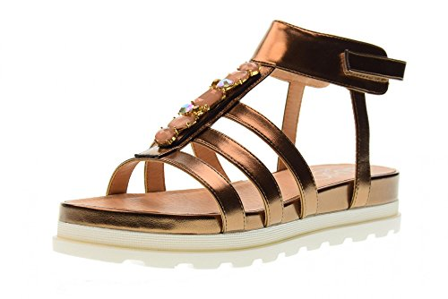 LIU JO GIRL Shoes Woman Low Sandal L3A2-00386-0056535 Bronze Size 36 Bronze 4f46f393869