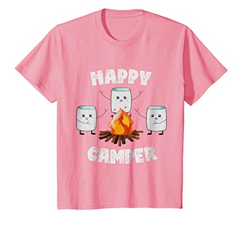 Marshmallow Summer Camp T-Shirt Happy Camper Tee