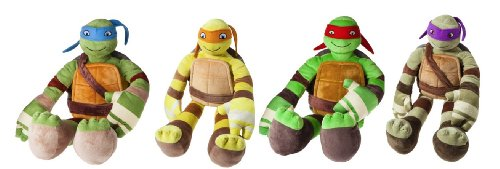 Nickelodean TMNT Teenage Mutant Ninja Turtles Cuddle Pillow Pal Buddy Set of 4 Leonardo Donatello Michelangelo (Teenage Mutant Ninja Turtles Bad Guys)