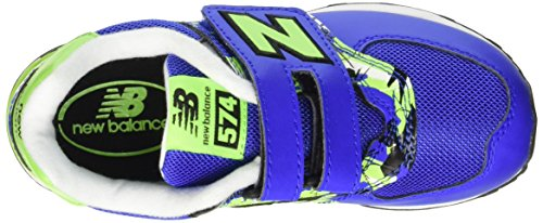 New Balance Nbkv574tnp, Sandalias con Plataforma Unisex Niños Blu (Blue Green)