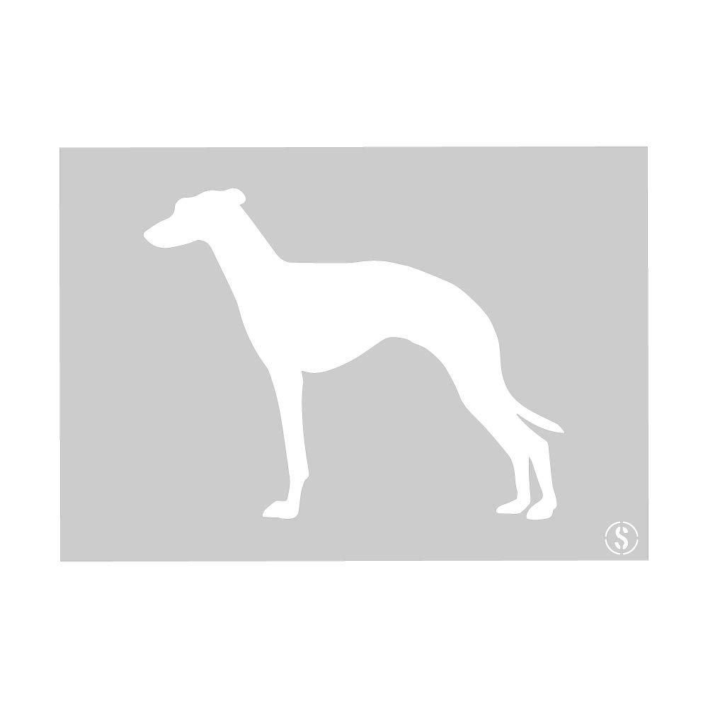 10144XL Size Extra Large Greyhound Stencil Reusable Stencil A1 The Stencil Studio Ltd