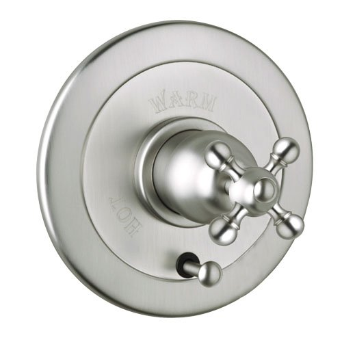 Rohl AC700X-STN Cisal Bath Collection Volume Control Pressure Balance Trim with Diverter Cross Handle, Satin