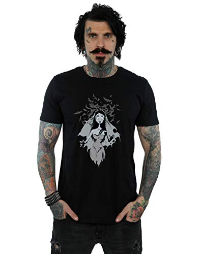 Absolute Cult Corpse Bride Men's Crow Veil T-Shirt Black Small]()