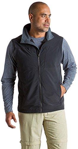ExOfficio Men's Sol Cool FlyQ Vest, Black, Large