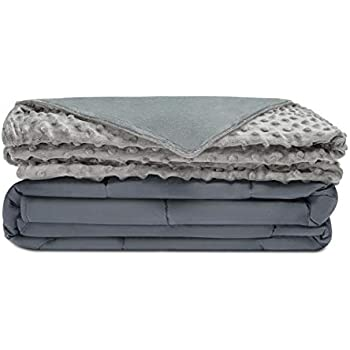 Quility Premium Adult Weighted Blanket & Removable Cover | 20 lbs | 86