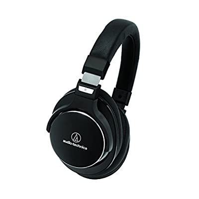 Audio-Technica Black SonicPro Noise Cancelling Headphones and Slappa SL-HP-07 Case ATH-MSR7NC