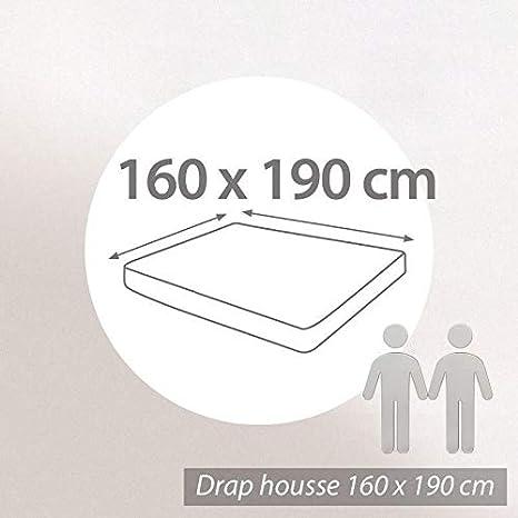 Linnea Drap Housse uni 160x190 cm 100% Coton
