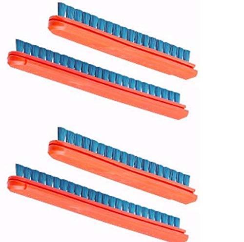 for Eureka Sanitaire Brush Roll Bristle Strip Inserts Orange Blue 2 Set Part 52282a