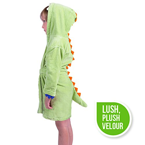 Izzy Roo Dinosaur Hooded Bathrobe