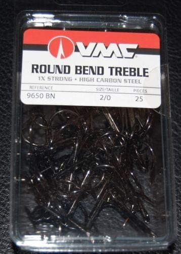 VMC Round Bend Heavy Treble Size 2 8 Per Pack