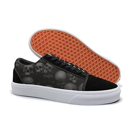 - HMAG Mens' Skate Shoes Jogging Shoes Screaming Skulls Lightweight Sneaker For Casual Outfits