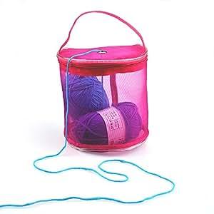 Yarn Bag, Yeefant Lightweight Portable Yarn Wool Knitting Holder Crochet Thread Storage Organizer Mesh Bowl Tote Kit