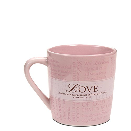 Lighthouse Christian Products Promises of Love with 10 Scripture Cards Ceramic Mug, 14 oz