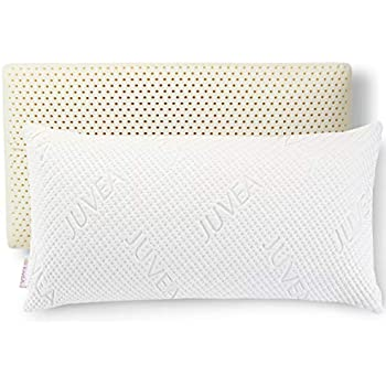JUVEA 100% Natural, Talalay Latex Pillow, Ultra-Soft Luxurious Tencel Lyocell Brand Cover, Best Pillow to Support Head and Neck, King High Profile, Ideal for Side and Back Sleepers - Made in USA