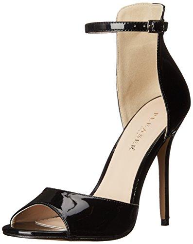 PleaserAmuse 14 - Zapatos de Tacón Mujer, Color Negro, Talla 42
