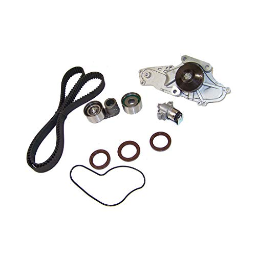 DNJ TBK284CWP Timing Belt Kit with Water Pump for 1997-2002 / Acura, Honda/Accord, CL, Odyssey, TL / 3.0L, 3.2L, 3.5L / SOHC / V6 / 24V / 2997cc, 3210cc, 3474cc / J30A1, J32A1, J35A1