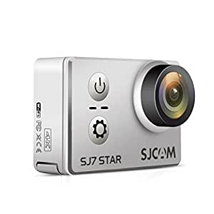 SJCAM SJ7 Star 4K 30FPS WiFi Action Cam Sports Camera 2.0 inch Touch Screen Ambarella A12S75 Sony IMX117 30m Underwater Outdoor Action Camera Gyro Stabilization (Silver)