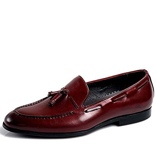 None - Mocasines para hombre, color rojo, talla 39 EU: Amazon.es: Zapatos y complementos