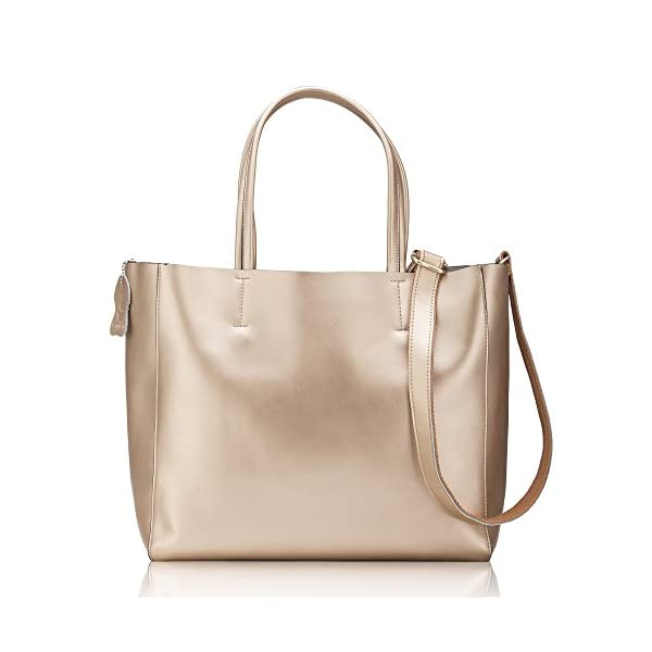 Women' s Casual Shoulder Tote Handbag Cross Body Bag with A Large Capacity Made of Soft Pearl Leather