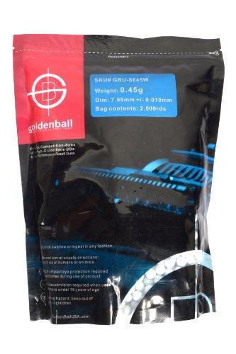 8mm Bbs - GoldenBall 8mm 0.45G ProSlick Seamless Airsoft BBs - 2000rd Bag
