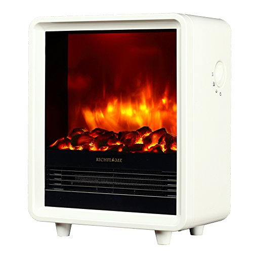 Cheap RICHFLAME Olivia 12 inch Freestanding Electric Fireplace Heater Stove 1500W White Black Friday & Cyber Monday 2019