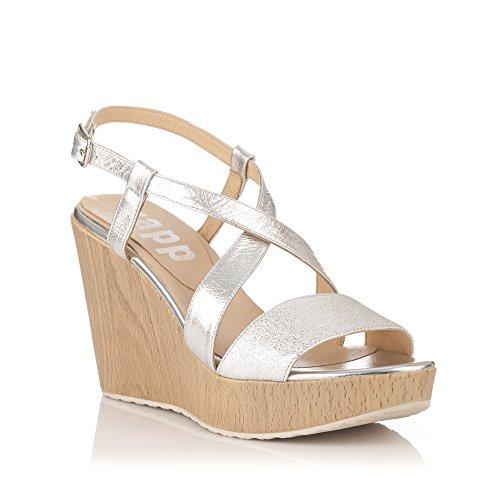Sandales métallique pour ZAPP argent femme FxpwAqHq0