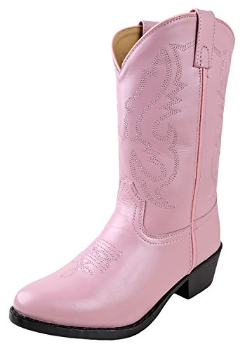 (Smoky Mountain Boots Kids Child Denver Leather Western Boot Pink 6.5 M US Toddler)