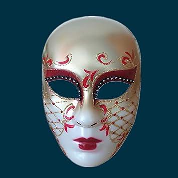 Máscaras de carnaval, caras completas pintadas a mano, máscaras a ...
