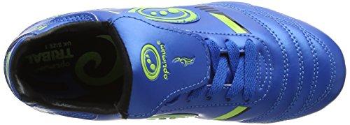Optimum 6 Stud Tribal Lace Up, Botas de Fútbol para Niños Azul (Blue/Green)