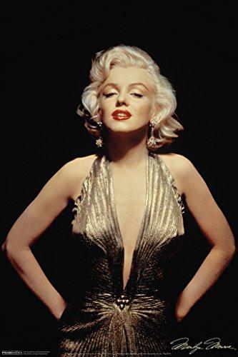 Marilyn Monroe Gold Dress Poster