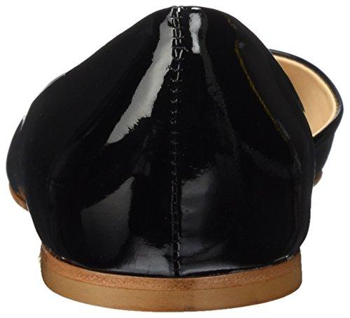 Open Ballet Flats Nero Fabio Toe Rusconi Women's Black 009 Schaftballerinas UgOntqft7