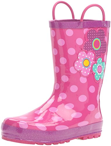 (Western Chief Girls Printed Rain Boot, Flower Cutie, 7 M US Toddler)