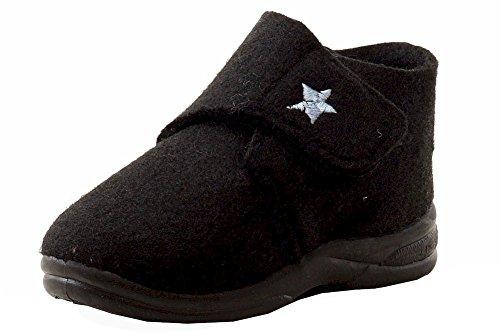 SkidDERS Kid's Desert Star Shoe Boot , Black/Blue Star, 3 M