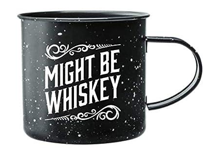 Amazon.com: Taza de café esmaltada para acampar, con texto ...