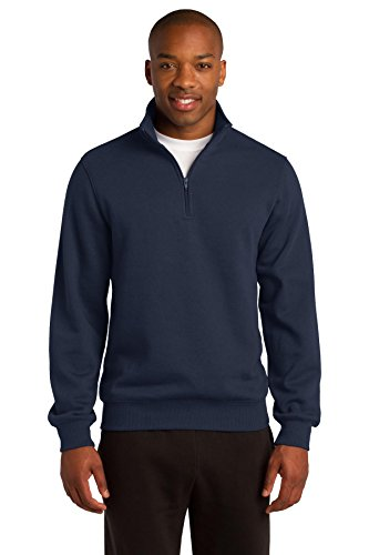 1/4 Zip Fleece Sweatshirt (Sport-Tek Men's 1/4 Zip Sweatshirt XL True Navy)