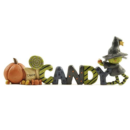- MONLIYA Halloween Witch Pumpkin Candy Resin Ornament Hand Painted Statue Crafts Gift for Halloween Christmas Indoor Outdoor Desktop Decor