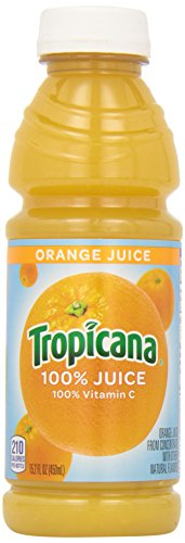 Fresh Squeezed Orange Juice - Tropicana Orange Juice, 15.2-Ounce Bottles (Pack of 12)