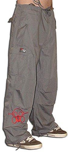Ghast Unisex Cargo Drawstring Rave Dance Pants, Basic Charcoal Medium