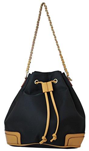 Meqiero Cow Canvas Tote Bags - Designer Inspired Shoulder Bag Black (Inspired Canvas Designer Handbag)