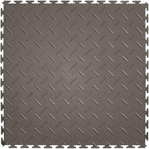 Diamond Flooring Vinyl Plate (Diamond Plt Grey 20.5x20.5in)