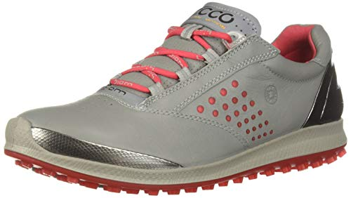 ECCO Women's Biom Hybrid 2 Golf Shoe, Wild Dove Yak Leather, 8 M US