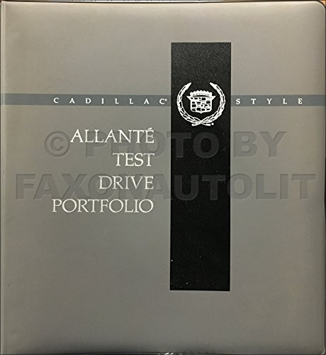 1991 Cadillac Allante Test Drive Dealer Album Original