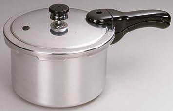 Presto Pressure Cooker Polished Aluminum 4 Qt.
