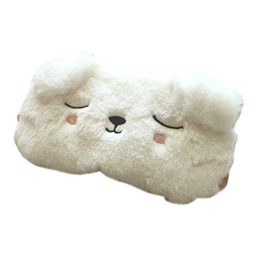 HXINFU White Dog Soft Sleeping Eye Mask For Men Eye Night Mask Sleep Blindfold