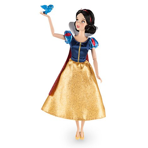 """DISNEY STORE SNOW WHITE 12"""" CLASSIC DOLL WITH BLUEBIRD"""