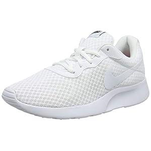 Nike Tanjun, Scarpe Running Donna, Bianco (White/White-Black), 38.5 EU