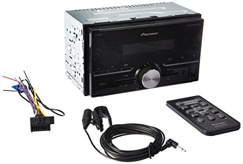 Pioneer MVH-S400BT Double DIN Car Receiver With Bluetooth (Best Pioneer Double Din Head Unit)